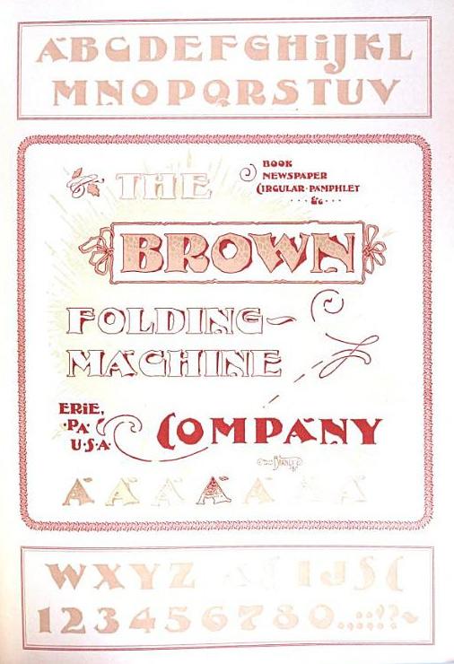 1891 Bradley Downing font