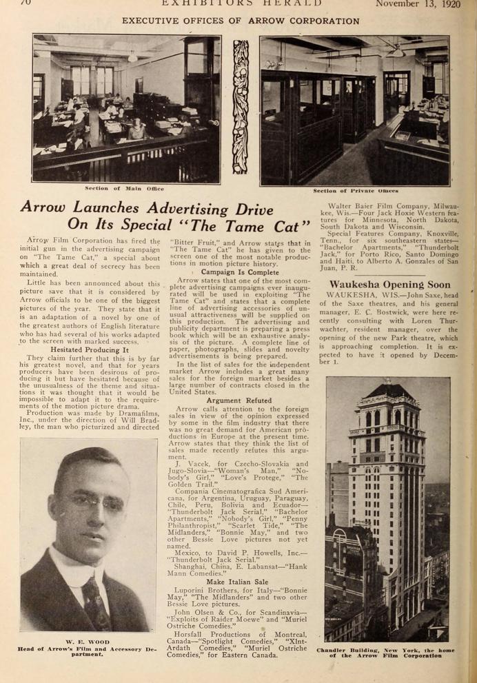 The Tame Cat, Exhibitors Herald, 30 Nov 1920