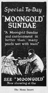 1921 Exhibitors Herald Moongold Sundae film ad