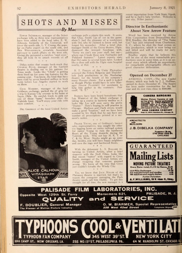 The Tame Cat, Exhibitors Herald, 8 Jan 1921