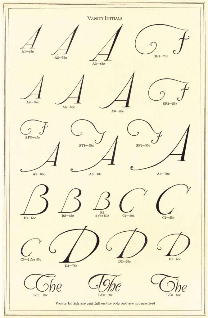 Vanity Initials font 1923-ATF-Specimen-Book-p772