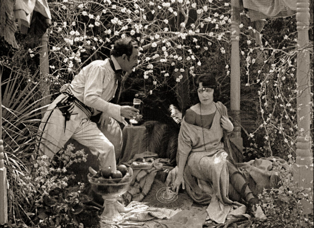 John Charles and Jane Gail in the silent film Bitter Fruit (1920)