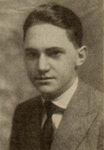 Screenwriter Willard King Bradley in 1916