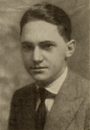 Silent film scenario writer Willard King Bradley in 1916