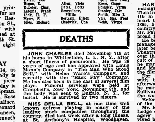 John Charles Obituary
