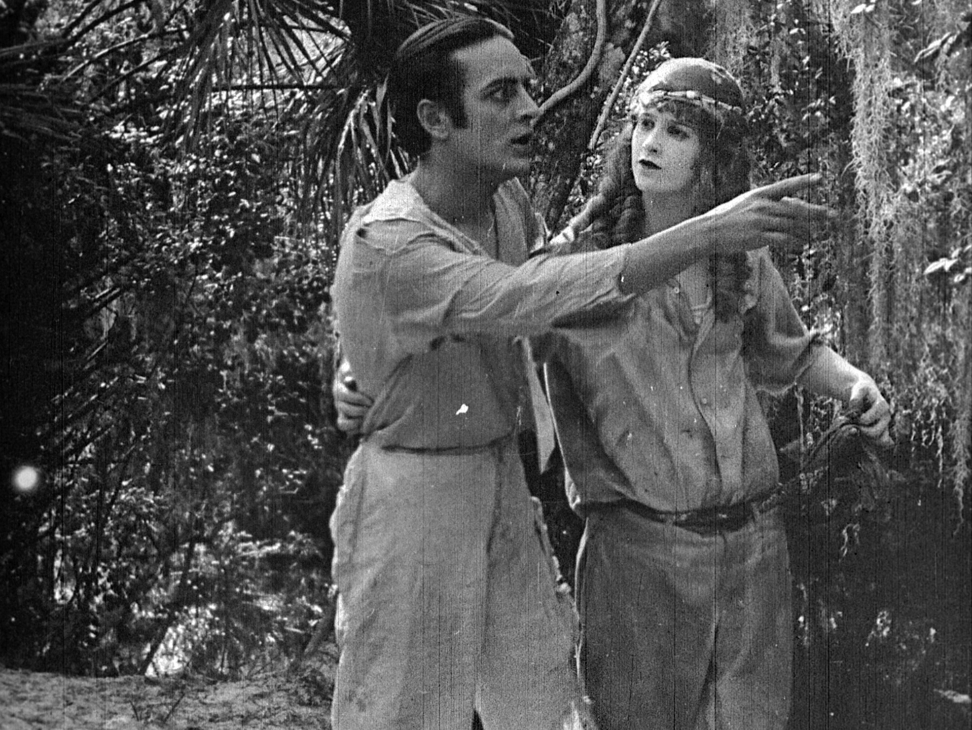 Bitter Fruit - Carlos and Polly, in the silent film Bitter Fruit (1920)