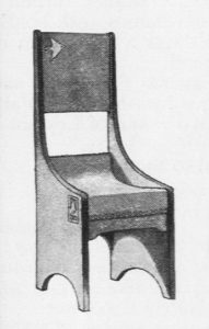 American Art Nouveau arts and crafts chair design, Will H. Bradley, 1901.
