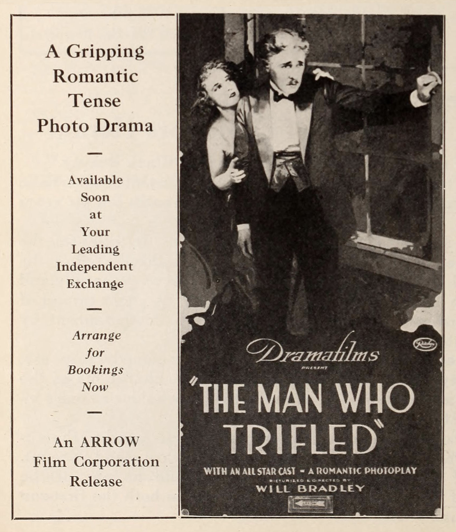 1921 The Man Who Trifled ad