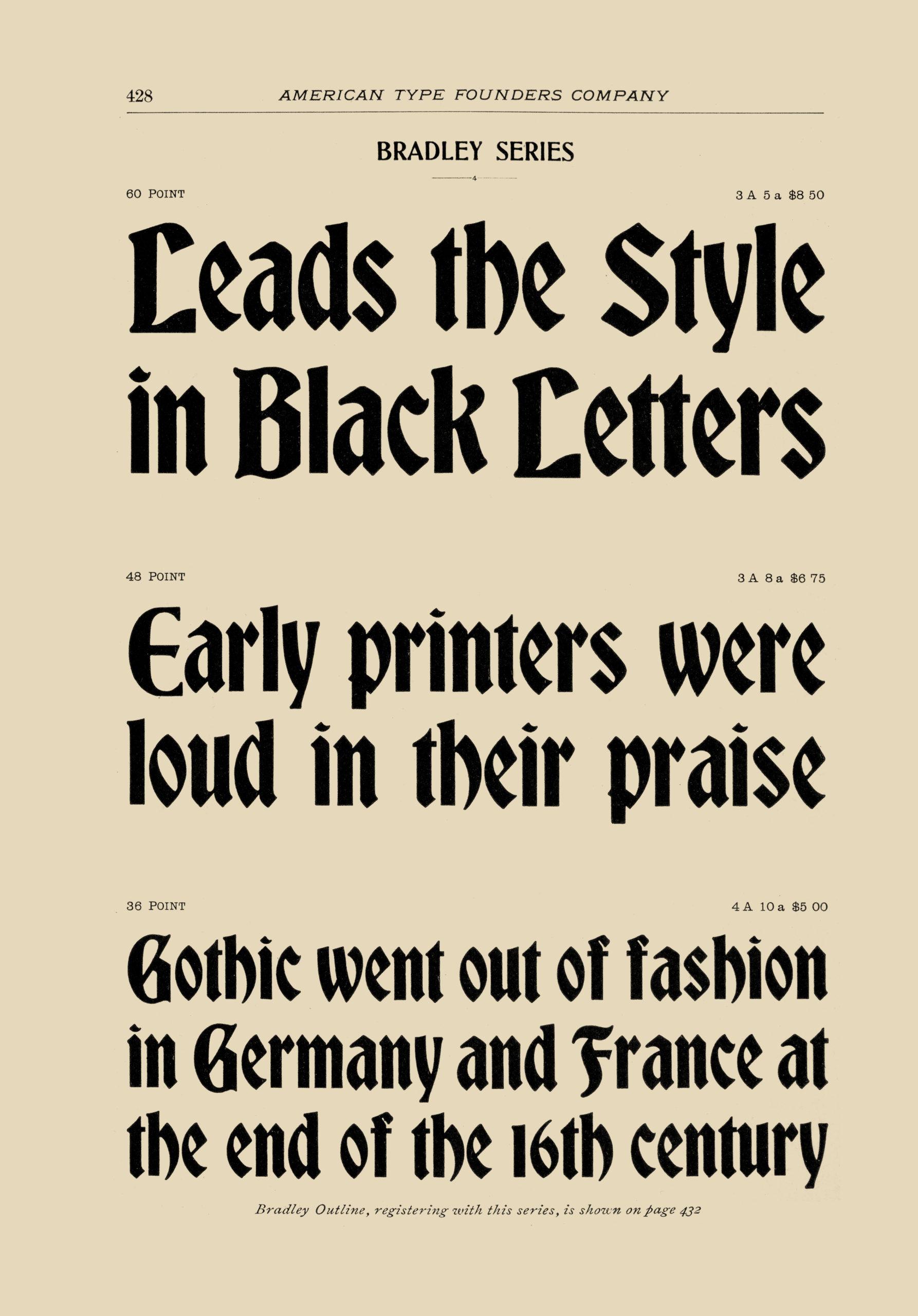 Bradley Series type specimen, 1899