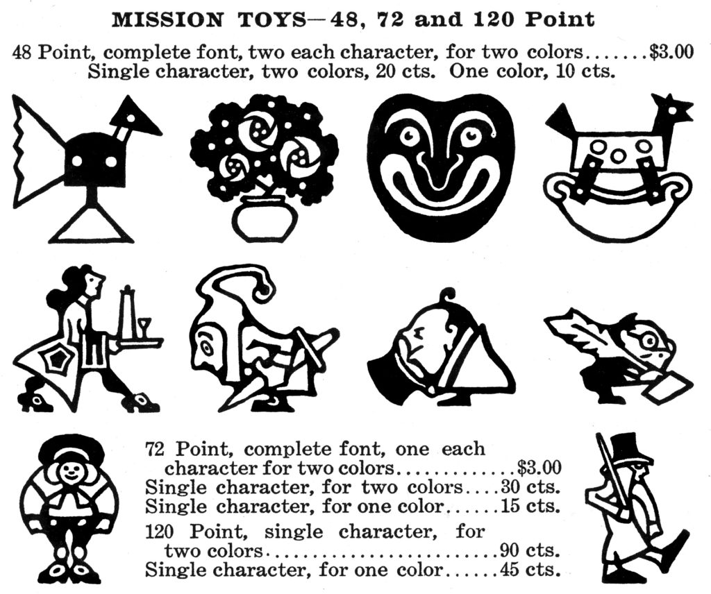 A65.3 Chap Book Nov 1904 Mission Toys (G21) listing
